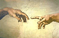 A detail from Michelangelo's 'The Creation of Adam'
