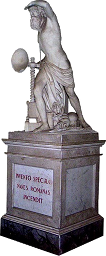 A statue of Archimedes